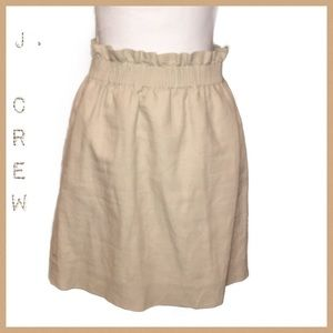 J. Crew Khaki Pocket Pull-On Skirt Size 4